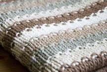 Knitting: simple blanket .