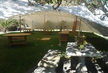 Wedding tent - front wide open