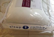 Sleep number curved memory fiber pillow