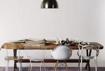 Eettafel en stoelen / Mix & Match