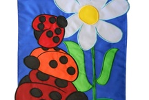 Lady Bug House flags and Garden Flags
