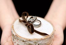 Ring Pillows and Alternatives / Ideas for wedding ring pillows or holders including non-traditional alternatives.