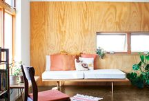 Plywood Feature Wall