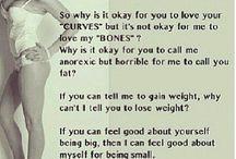 Being skinny....