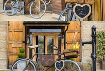Wedding Extras at The Tythe Barn / From our vintage bike to our rustic landrover, these little extras make your wedding day something special