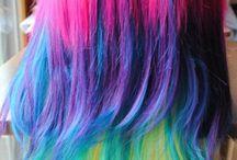 Cheveux multicolores