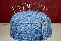 Pique épingles en jeans