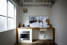 Deconstructed kitchens / There's something beautiful about the rawness of de-constructed kitchens.