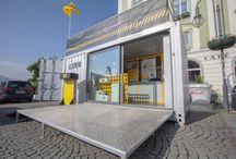 Bullitt Marketing Activation / Converted Shipping container for the Bullitt European Tour