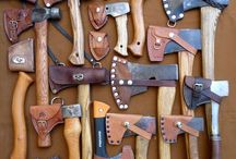 Axe sheathes / Leather axe cases sheathes and tool covers