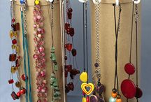DIY necklace organizers