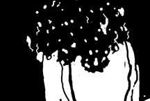 Black & white... / Digital paintings...