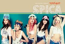 """SPICA / Spica (Hangul: 스피카, stylized as SPICA) is a South Korean girl group formed under B2M Entertainment. The group released """"Doggedly"""" (독하게) as a prologue single, on January 31, 2012 and officially debuted on February 9 with the mini album Russian Roulette. The group consists of Kim Boa, Park Sihyun, Park Narae, Yang Jiwon and Kim Bohyung."""