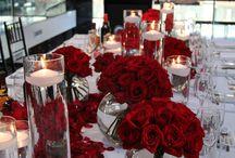 centerpiece red flowera