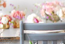 Dekoracje krzeseł // Chair decoration ideas