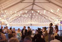 Tented Weddings / Tents can transform any space into a magical ceremony or reception area! The draping, lighting and overall atmosphere create a romantic vibe that you're sure to love.  www.beckysbrides.com | Birmingham, Alabama | Wedding Planner | Becky's Brides
