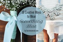 Something Blue / Blue wedding ideas and decorations.