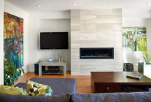 feature wall in lounge