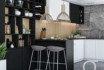 Kitchen at Poprzeczna Street / Stone&Wood Kitchen