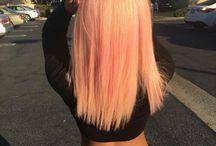 Kleurrijk haar / Kapsel en inspiratie voor kleur in je haar.