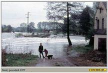 Stod, 1977, povodeň / Foto Stanislav Dolejš