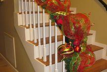 vánoce / ozdoba schodiště