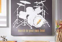 drummer (man) room idea
