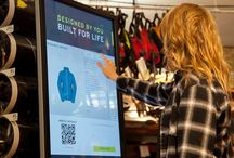 Hexa Recreation Interactive Jacket Kiosk / Interactive jacket kiosk designed and built for custom in-store orders that ship direct to customers.