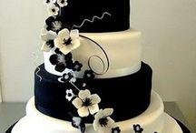 czarno-białe torty