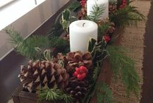 Winter Holiday Decor / Some fun ideas that bring elements of the outdoors inside to create some beautiful decorations.
