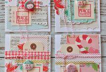 Karten Weihnachten / handmade cards for christmas