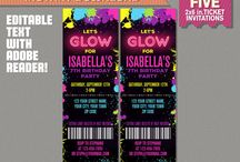 Neon Glow Party Printables and Ideas