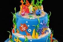 Two tier underwater theme / Cakes