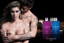 """Richmond """"X"""" Perfumes / The new fragrance by Richmond """"X"""". Belen Rodriguez and Stefano De Martino."""