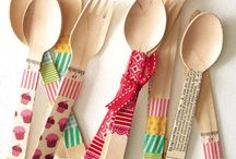 spoon crafts with washi tape