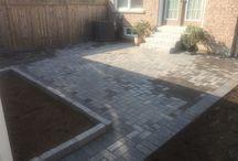Interlock Front Entrance & Backyard Patio Installation – Mississauga, Ontario