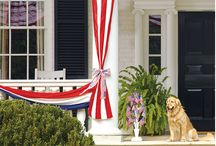 Patriotic Decor-Inspiration / Red, white, and blue central. From decorations to food and costumes.