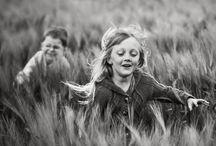 Children Photo B&W