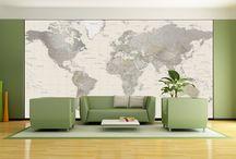 MAP MURALS / Walls that edify. / by Davia Bailey