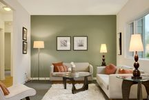 green living room colour scheme
