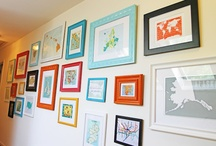 Framed / Frames & gallery wall inspiration.  / by gMarie