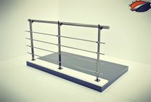 Akos Aluminium Railing Systems / New generation aluminium railing models for balcony - stairs - cafe - shopping mall and etc.