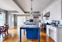 Fall Estate Project / These hardwood floors are random width French White Oak with Walnut pegs.