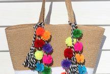 Pom pom beach bags  Home