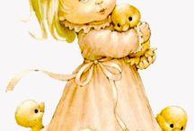 bebek ve çocuk dekopaj