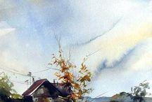 watercolours paintings