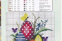 Cross stitch Easter, punto croce pasqua