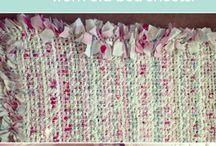 kobereček ručně z proužků látky