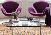 Cadeiras e poltronas coloridas na decoração / Cadeiras e poltronas coloridas