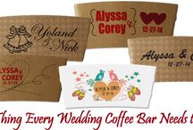 Wedding Sleeves / Every wedding has coffee, so instead of the cliched beer cozies, order personalized wedding sleeves to make your special day memorable.